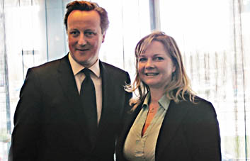 Kristy Adams with David Cameron