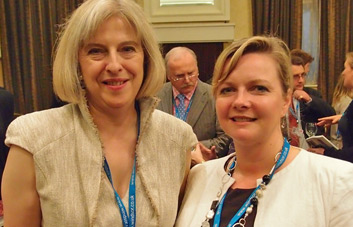 Kristy Adams with Theresa May