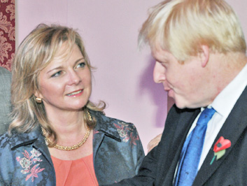 Kristy adams meeting Boris Johnson
