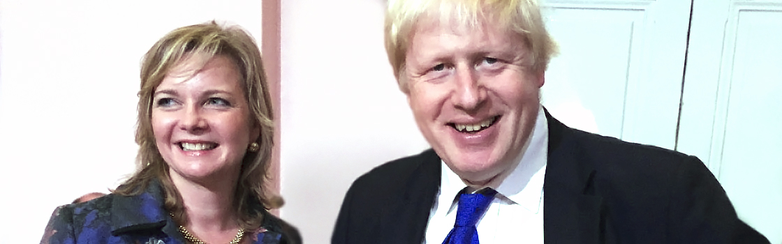 Kristy Adams with Boris Johnson