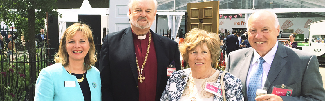 Ken and Ann Norman, the Bishop of London, Kristy Adams