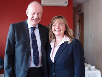 Campaigning with Minister Damien Green MP
