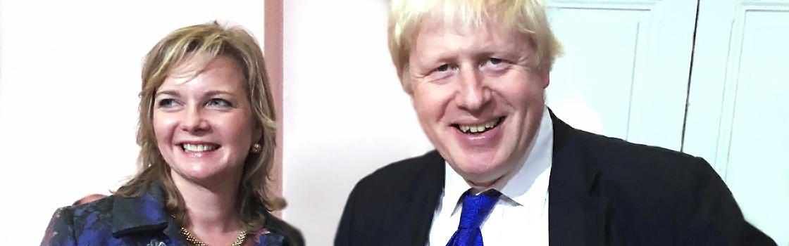 Kristy Adams with Boris Johnson