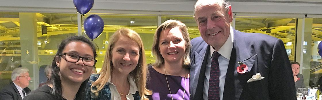 Kristy Adams with Sir Nigel Soames
