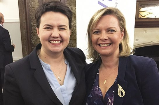 Kristy Adams with Ruth Davidson MSP - Leader of the Scottish Conservative Party
